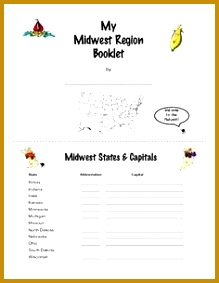 Midwest Region Activity Booklet or Interactive Notebook Lessons 283219