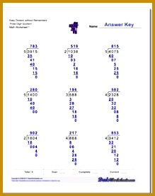 Easy Division Worksheet without Remainders Three Digit Quotient Long Division Worksheet 277219