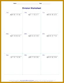 Division Worksheets 5th grade math Pinterest 284219
