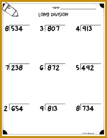 Long Division Worksheets 4 NBT B6 & 5 NBT B6 283219