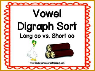 Children sort the colorful pictures based on what their medial vowel sound is They choose between short OO sound as in book verses the long OO sound as in 244325