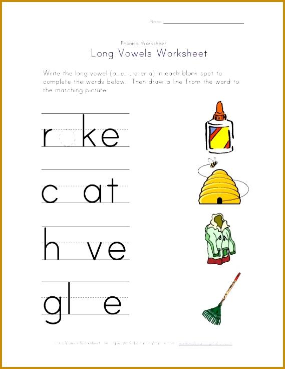 long vowels a i o and u worksheet 736569