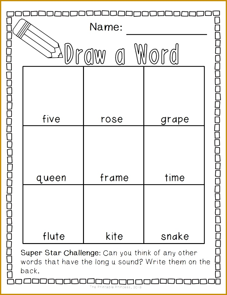 Draw a Word Long Vowel Word Family Edition 972749