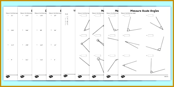 Draw and Measure Angles Maths Mastery Worksheet Pack Year 5 Geometry & Shape 585292