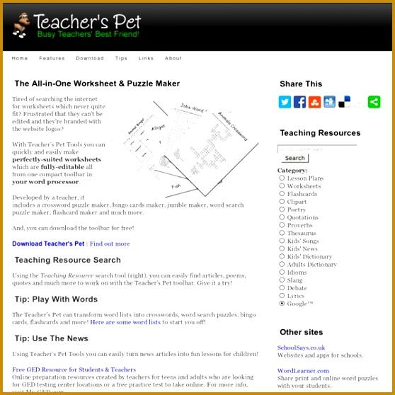 Teacher s Pet Free Worksheet & Puzzle Maker 558558