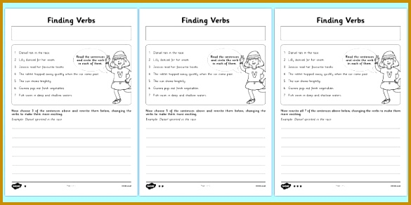 Finding Verbs Worksheet Activity Sheet finding verbs activity sheet worksheet 292585