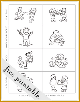 7 Making Good Choices Worksheets