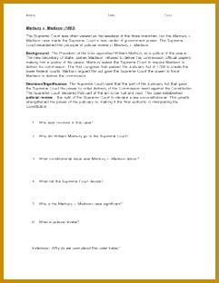 Marbury V Madison 1803 Worksheet Answers 35535 Oyez Supreme Court