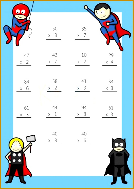 Multiplying 2 Digits by 1 Digit 1 Math Multiplication WorksheetsFree 465656