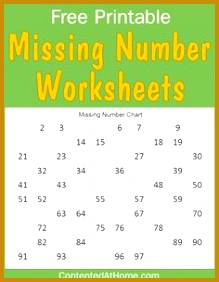 Free Math Printables Missing Number Worksheets 282219