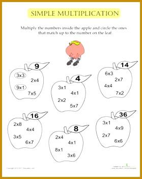 Math Multiplication Worksheets 69860 Simple Multiplication Apples