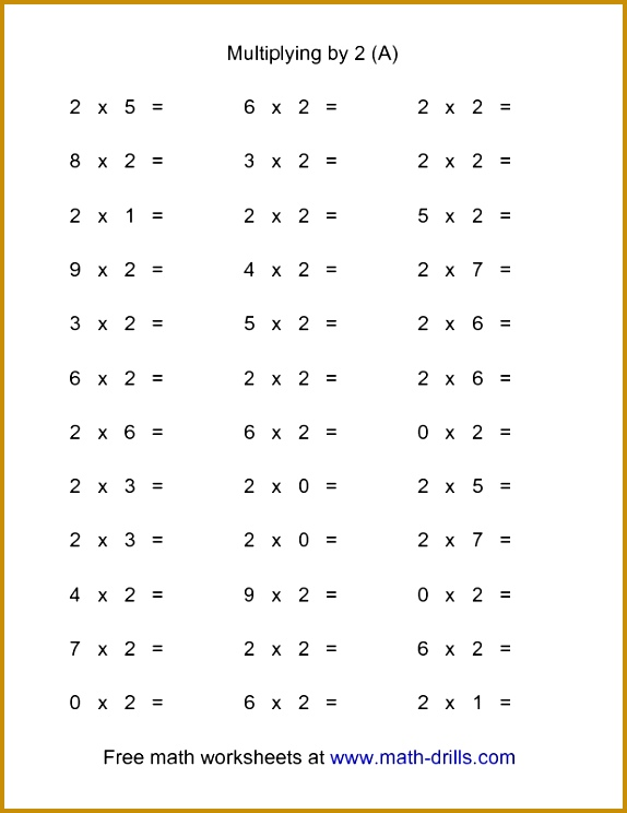 Multiplication Worksheet 36 Horizontal Multiplication Facts Questions 4 by A 744574