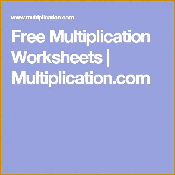Free Multiplication Worksheets 595595