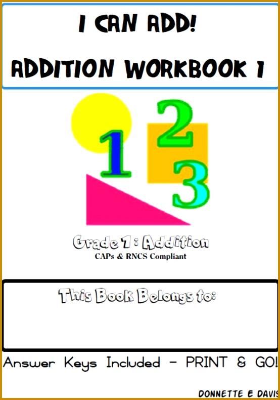 No Prep Addition Workbook 1 Grade 1 NO PREP Grade 1 addition Workbook is a workbook prising around 22 worksheets an 790554