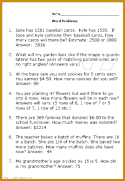 Practice Your Elementary Math Skills With These Word Problems 362250