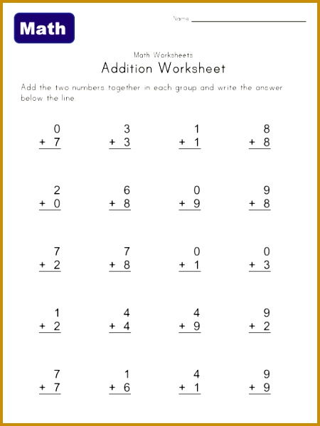 7 Math Worksheets 4 Kids