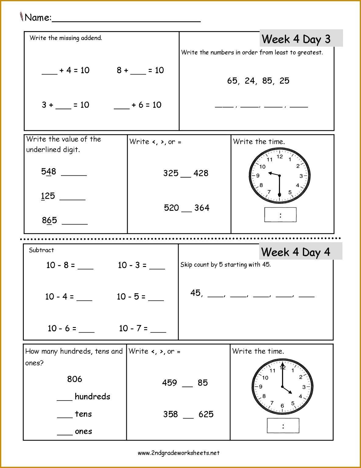 Teacher Worksheets For 2Nd Grade Worksheets for all Download and Worksheets 15341185