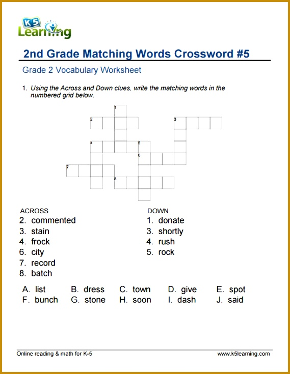 Fun Worksheets For 2Nd Grade Worksheets for all Download and Worksheets 735569