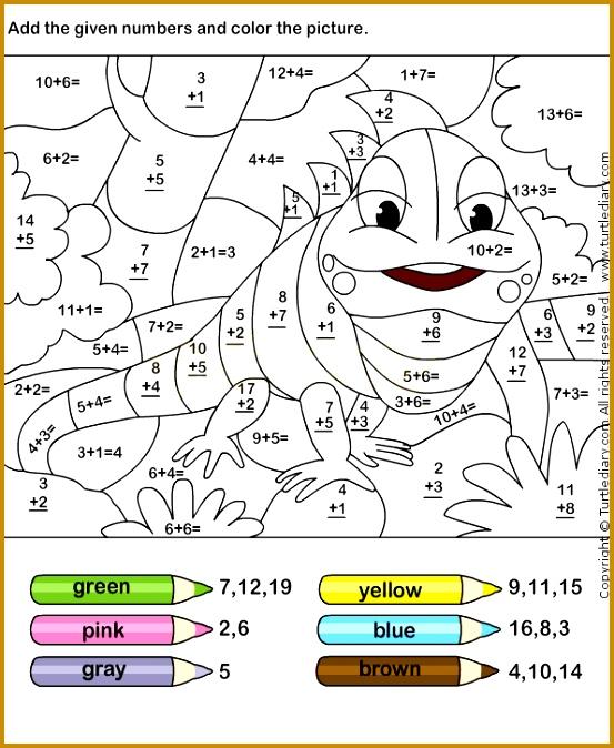 Color Addition Worksheets free printables for several grades 674553