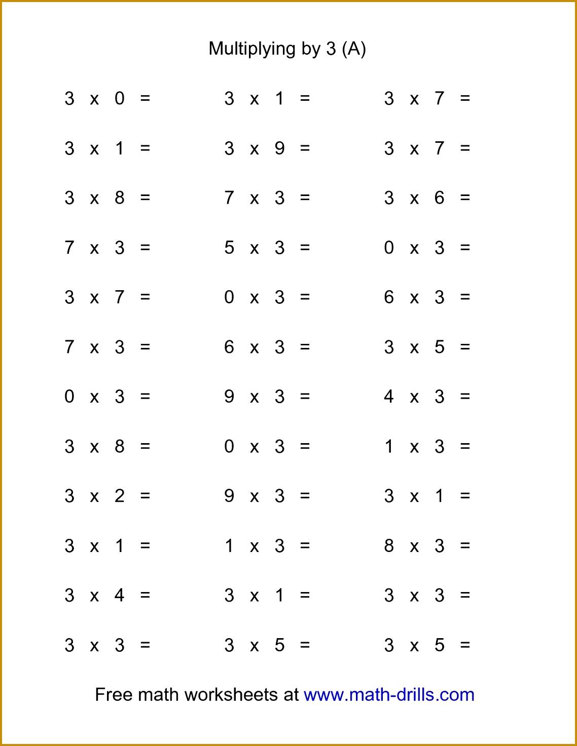 7 Math Worksheets for 3rd Grade