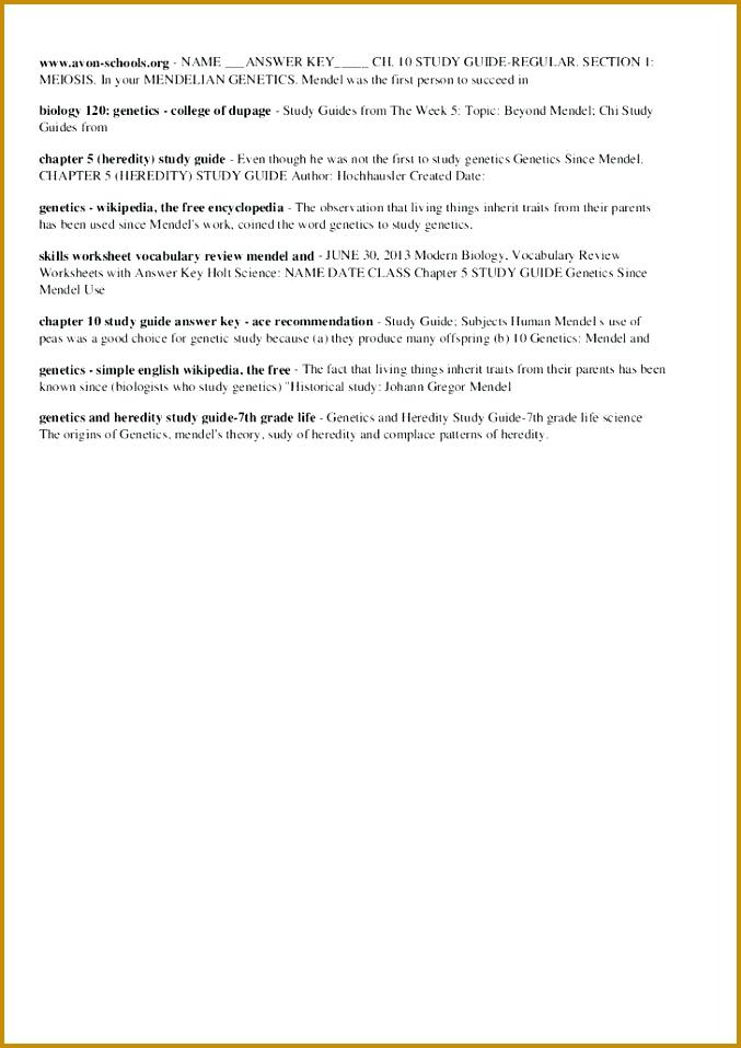 4 Mendelian Genetics Worksheet Answer Key   FabTemplatez
