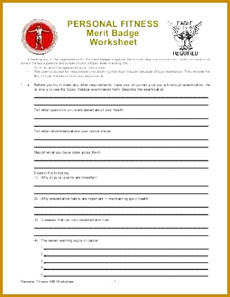 Family Life Merit Badge Worksheet Worksheets for all Download and Worksheets 429332