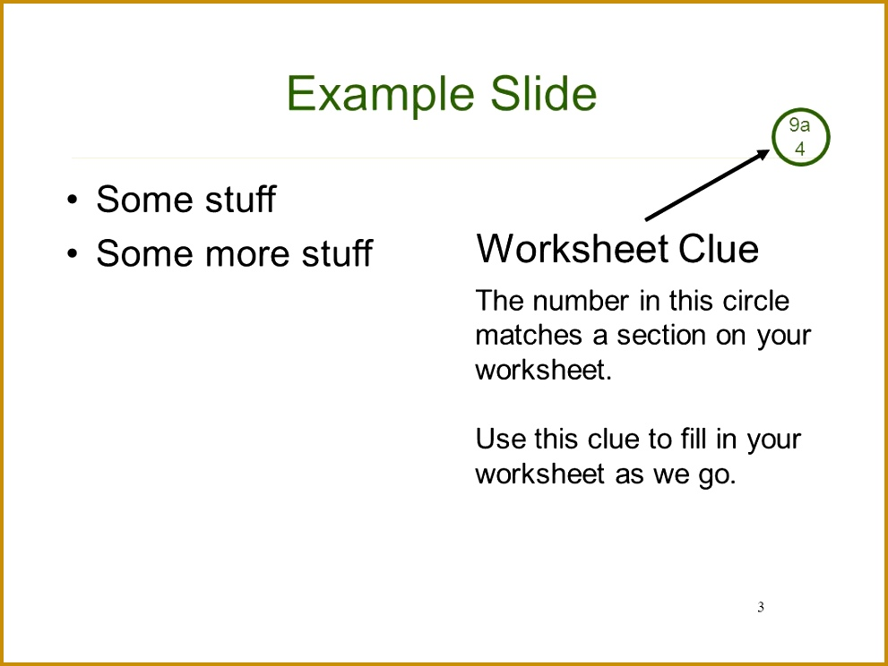 Example Slide Worksheet Clue Some stuff Some more stuff 4 Radio Merit Badge 744991