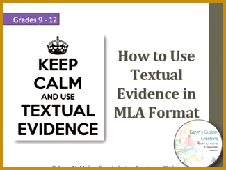 Textual Evidence teaches students how to use a quote in MLA format This lesson explains 244325