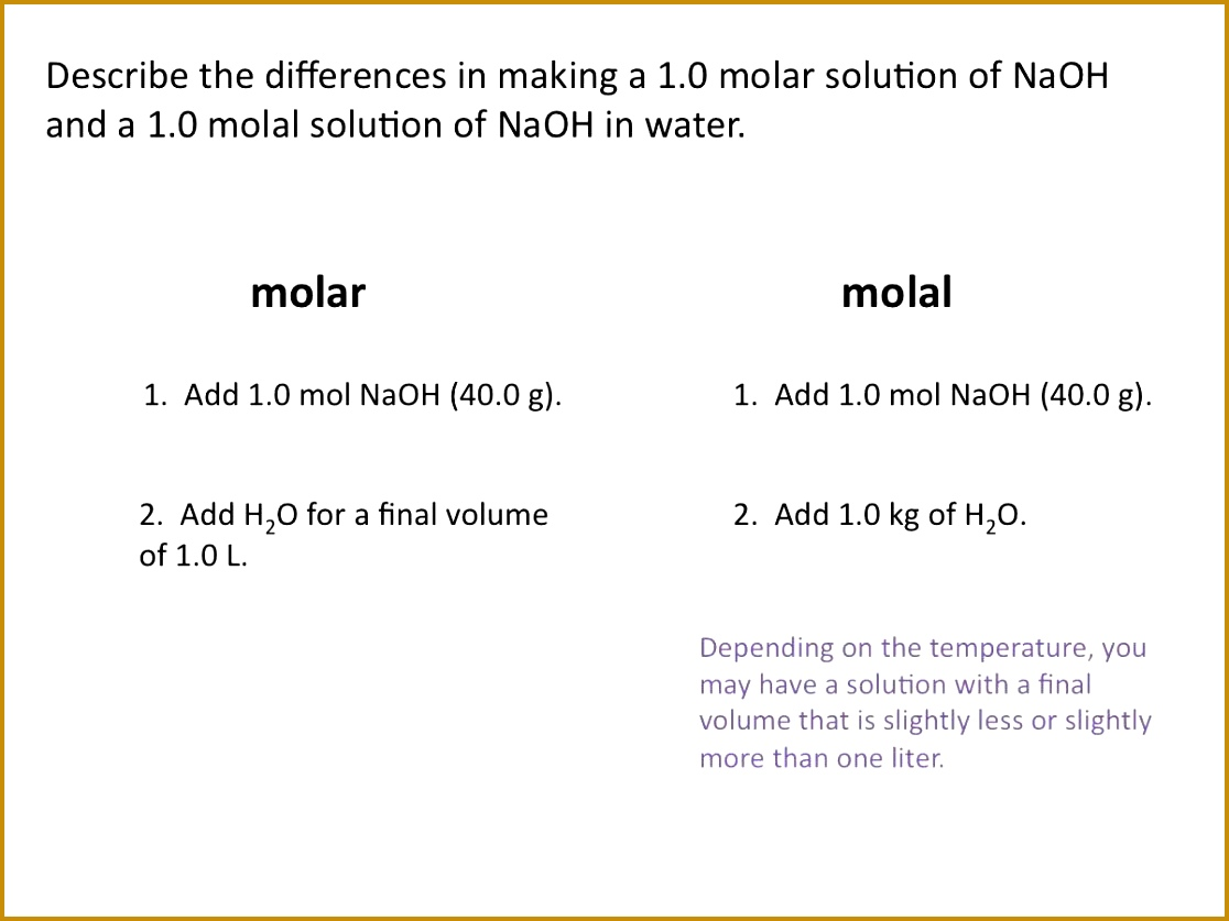 5 Molarity Worksheet