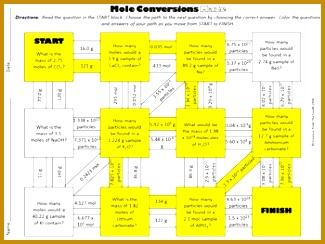 4 Mole Conversions Worksheet | FabTemplatez