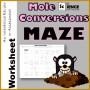 5 Mole to Mole Conversion Worksheet