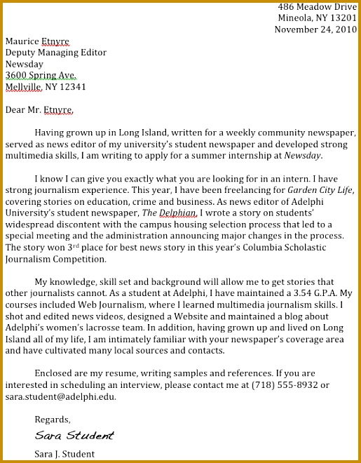 journalism advice how to write a cover letter 660515