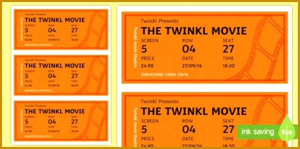 Cinema Role Play Tickets Cinema movie Role play play 292585