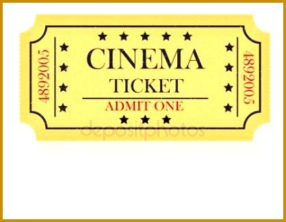Cinema ticket vector illustration Royalty Free Stock Vectors 325418