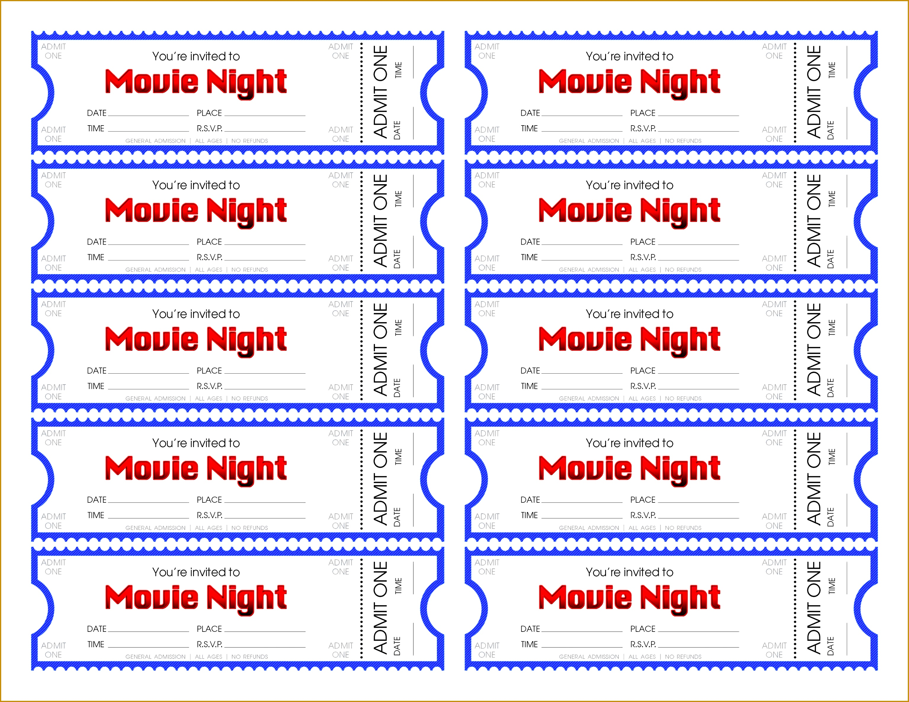 stunning movie ticket generator make your own night tickets 30692371