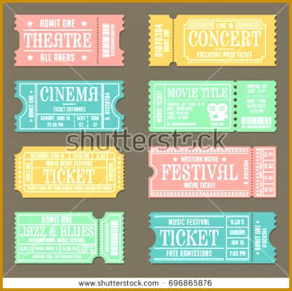 Vintage Ticket Template Set for Event 416418
