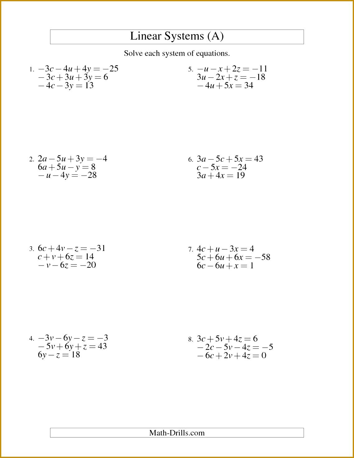 Multiple Step Equations Worksheet Worksheets Work Solving Multi 14731138