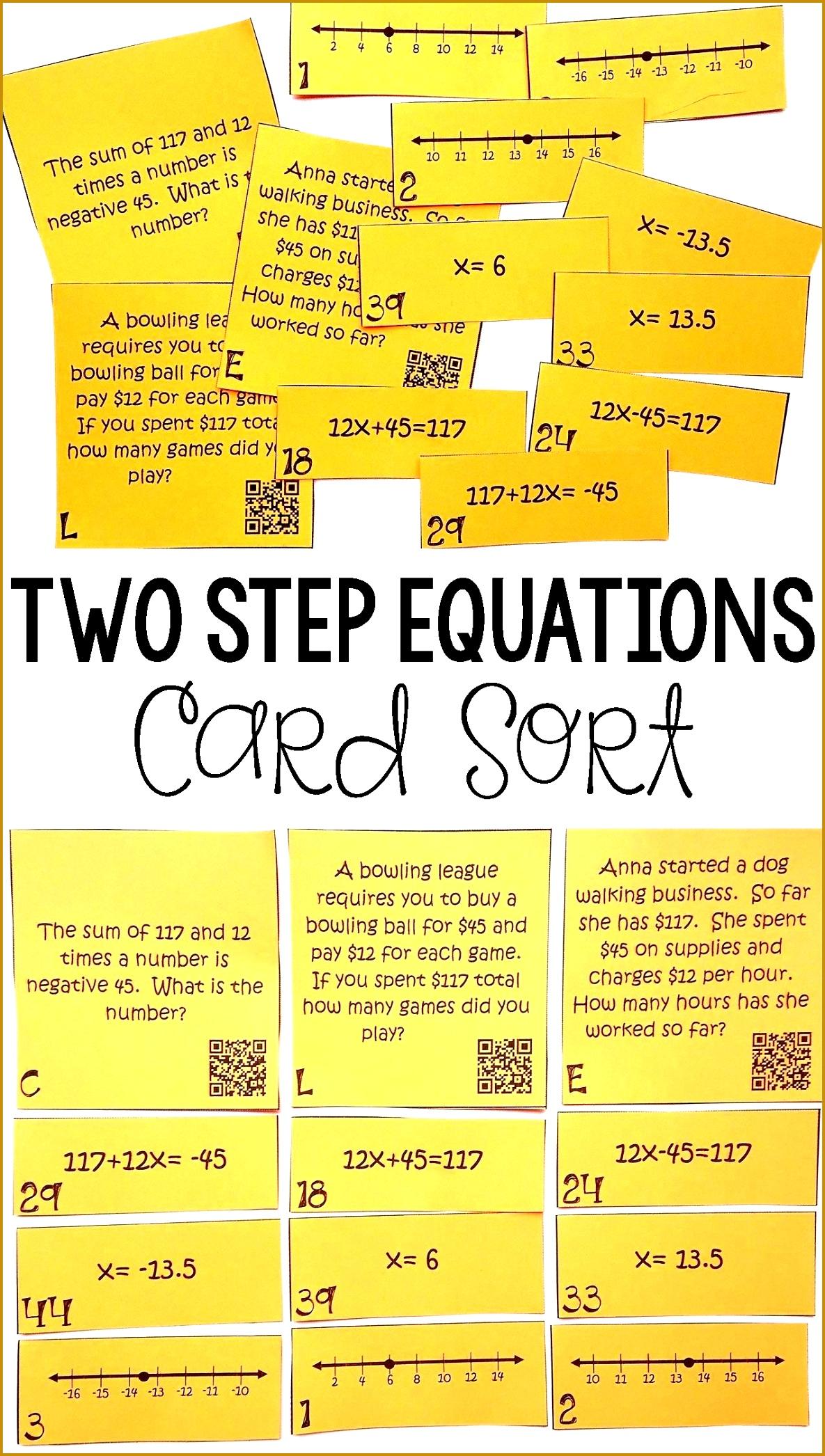 Solving Two Step Equation Worksheets Writing Equations A Number Line 1 Worksheet Kuta 20921185