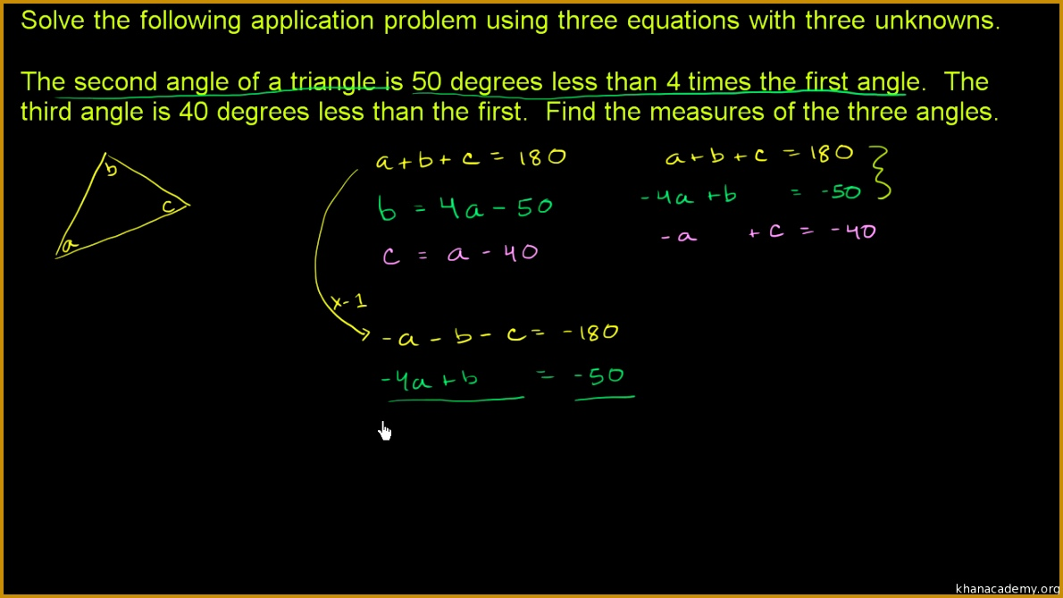 Solving linear systems with 3 variables no solution video 6691190