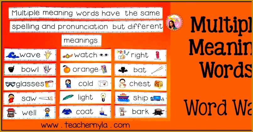 Nylas Crafty Teaching Multiple Meaning Words Ideas for Teaching – 2nd Grade Multiple Meaning Words Worksheets 423806