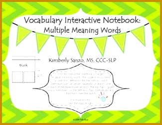 Vocabulary Interactive Notebook Multiple Meaning Words II 252325