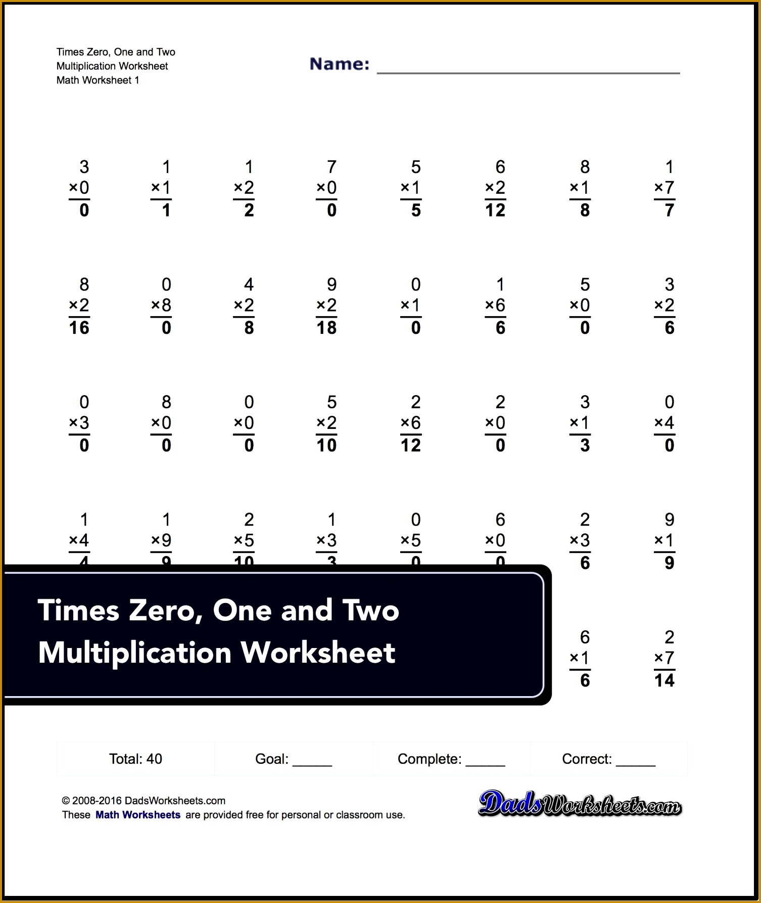 These 40 problem addition and subtraction fact family worksheets are perfect for either quick practice or a one minute timed test 15061785