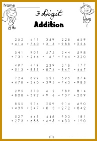 3 Digit Addition Worksheets Homeschool WorksheetsHomeschool MathGrade 5 279193