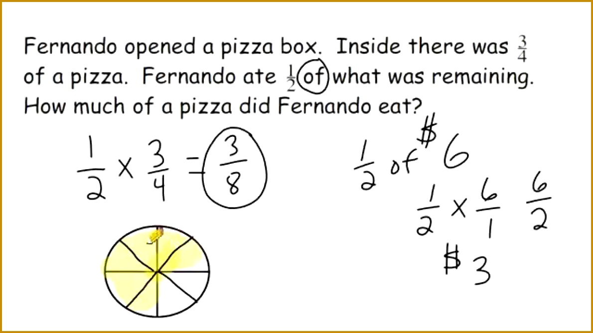 Maths Pizza Fractions Fraction Multiplication Word Problems Youtube Year Worksheets Worksheet 3 Activity 2nd Grade 6691190