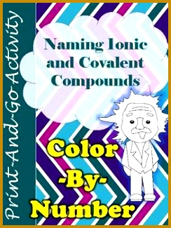 Have your students practice naming ionic and covalent bonds with this engaging color by 325244