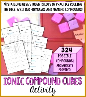 Ionic pound Cubes Practice Activity 289325