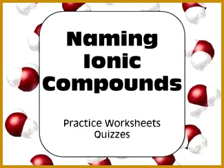 Chemical Nomenclature Ionic Bonding & Naming pounds High School Science 244325