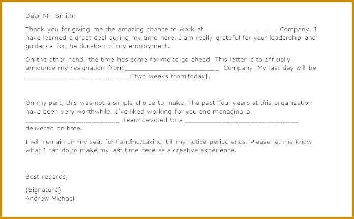 2 weeks notice letter two week notice letter two weeks notice letters resignation letter templates regarding 696430
