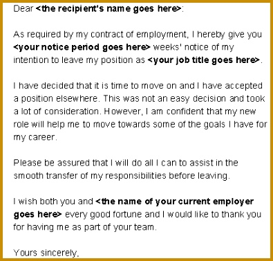 Waiver of Notice Period resignation letter 377395