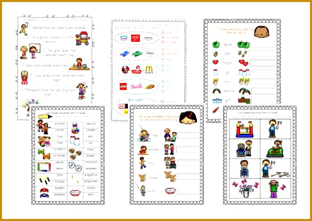 Free Nouns worksheets for the First Graders 433610